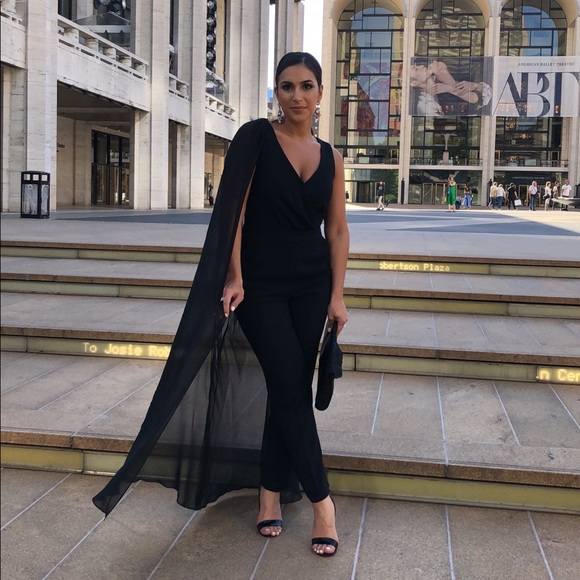 Trina Turk Other Black Jumpsuit With Cape Poshmark